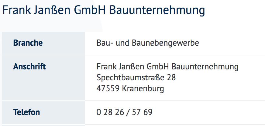 Frank Janßen GmbH Bauunternehmung